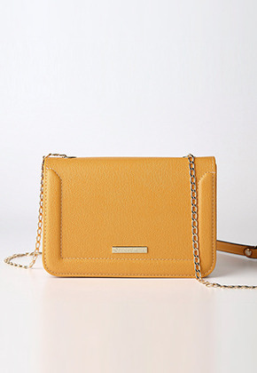 camellia cross bag (yellowbrown) - D1008YB