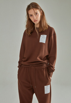NAME LABEL SWEATSHIRT BROWN