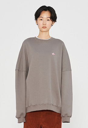 PATCH OVERFIT SWEATSHIRTS GREY