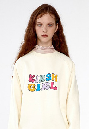 KIRSH GIRL SWEATSHIRTS IA [CREAM]