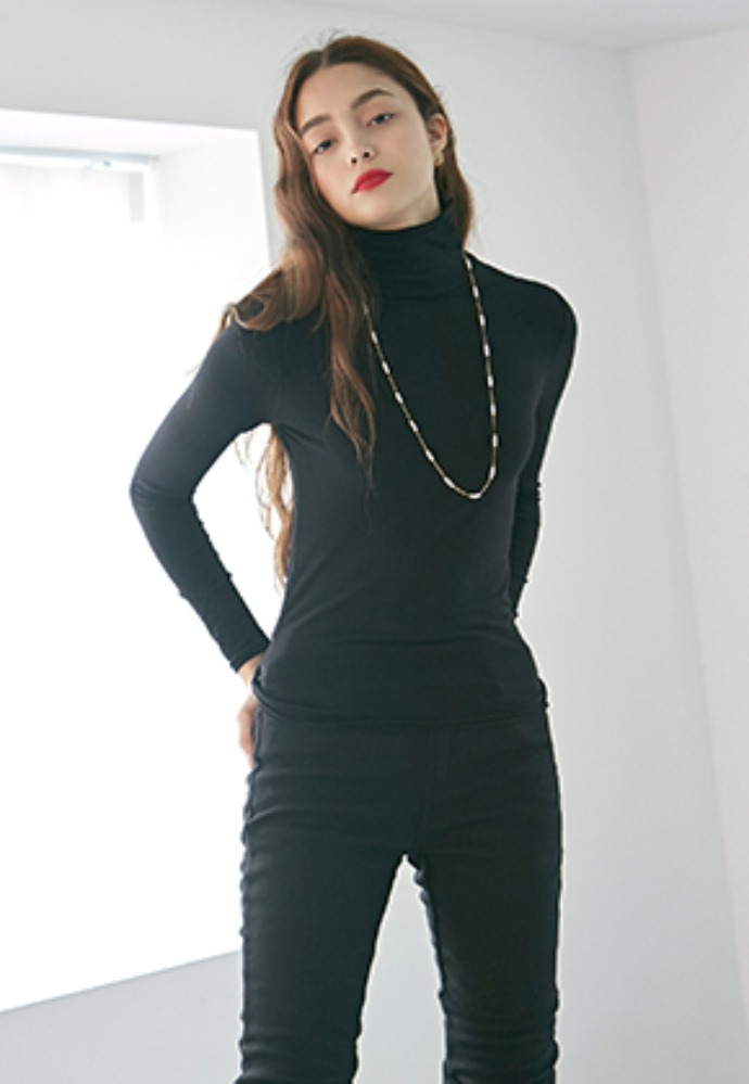 SKINNY HIGH LONG T_BLACK