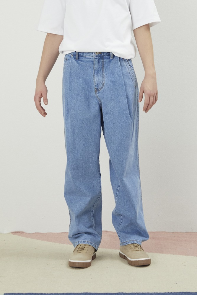 DO-NOT-REVERSE COTTON PANTS BLUE
