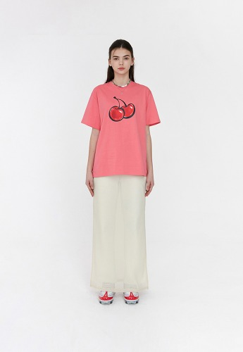 KIRSH키르시 [당일발송] 3D BIG CHERRY T-SHIRTS JH [HOT PINK]