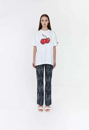 KIRSH키르시 [당일발송] 3D BIG CHERRY T-SHIRTS JH [WHITE]