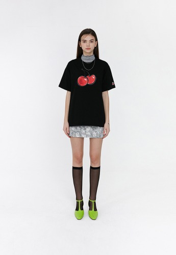 KIRSH키르시 [당일발송] 3D BIG CHERRY T-SHIRTS JH [BLACK]