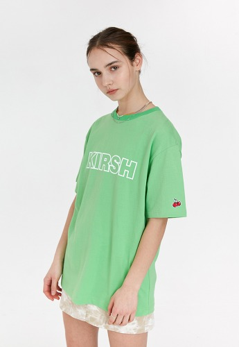 KIRSH키르시 [당일발송] KIRSH OUTLINE LOGO  T-SHIRT JH [GREEN]