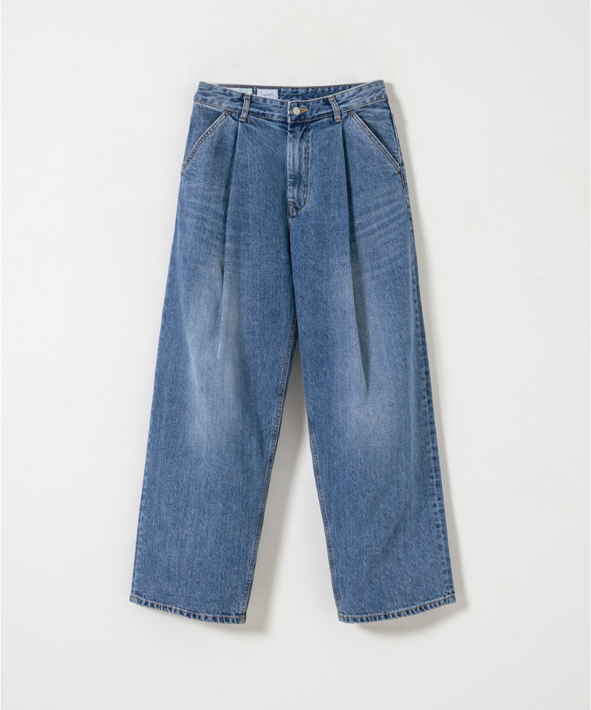 YOUTH유스랩 Structured Wide Denim Pants Medium Blue