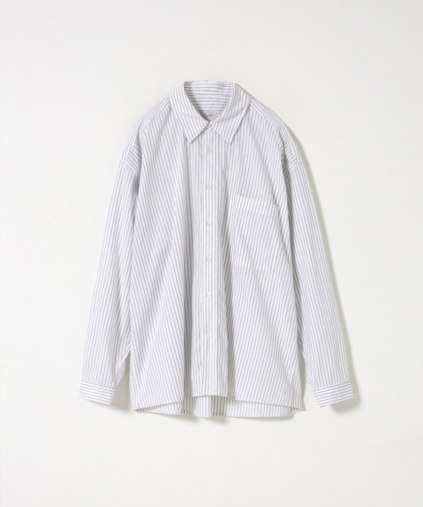YOUTH유스랩 Loosed Shirt White Stripe