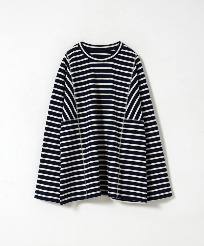 YOUTH유스랩 Structured T-Shirt Navy/Ivory