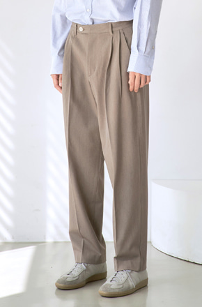 NOUN노운 wide tapered pants (khaki brown)
