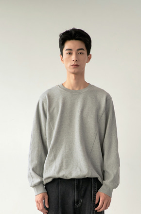 NOUN노운 [재입고]batwing sweat shirt (melange)