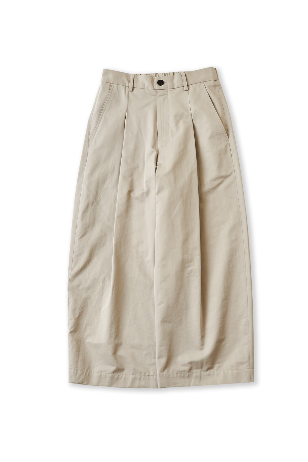 PERENN퍼렌 curved wide trousers_dove gray