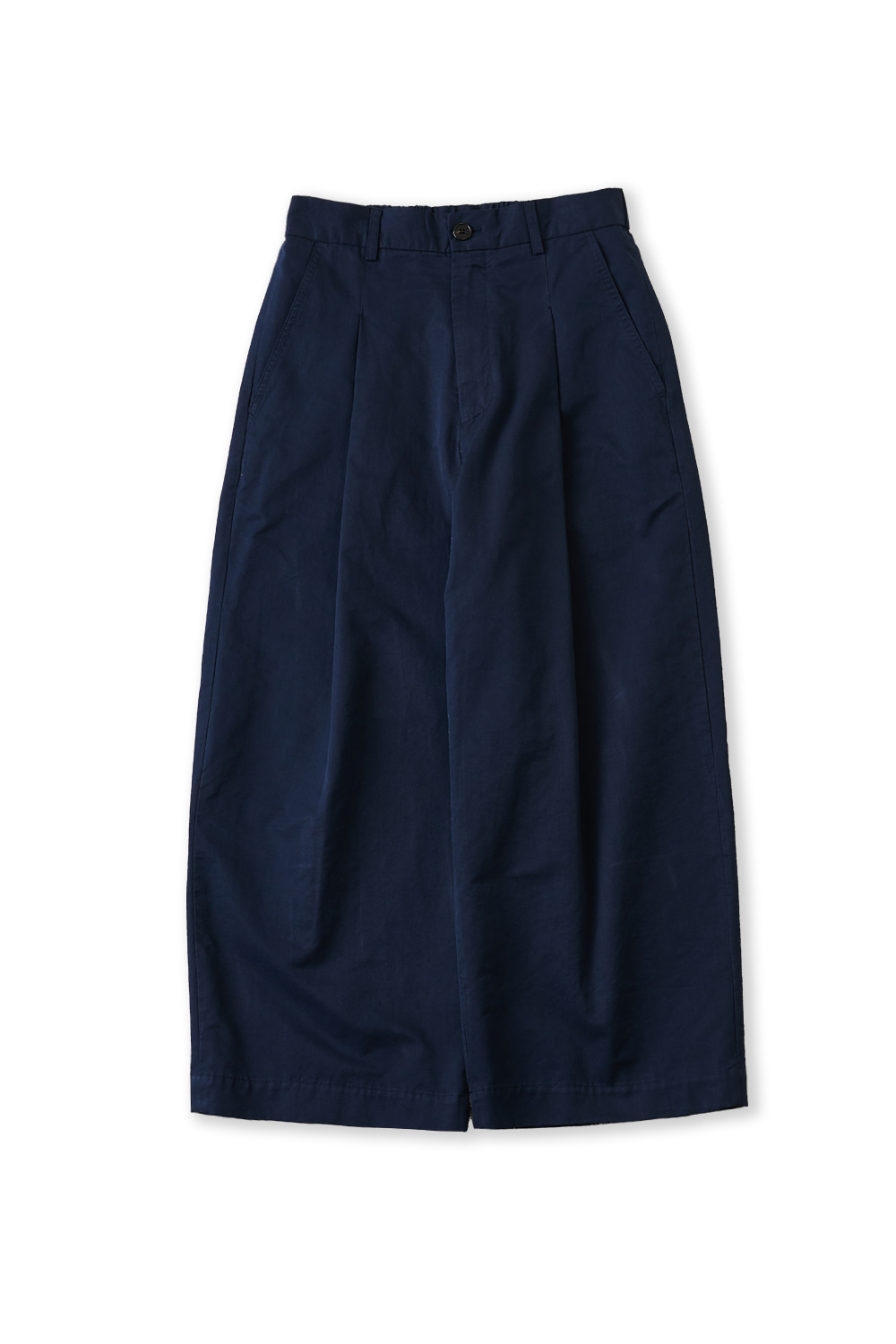 PERENN퍼렌 curved wide trousers_navy
