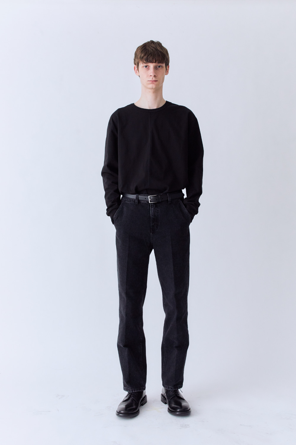 OURSCOPE아워스코프 Two Panelded Long Sleeve (Black)