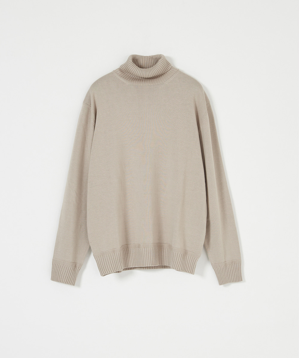 YOUTH유스랩 Knit Turtle Neck T-shirt Beige