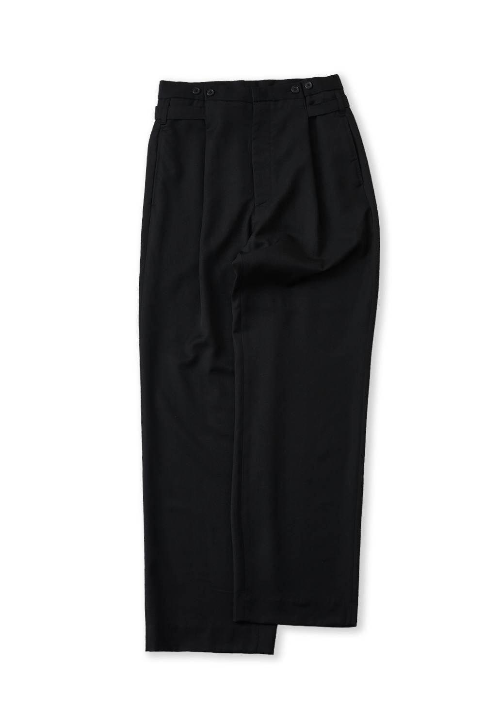 PERENN퍼렌 button wide trousers_black