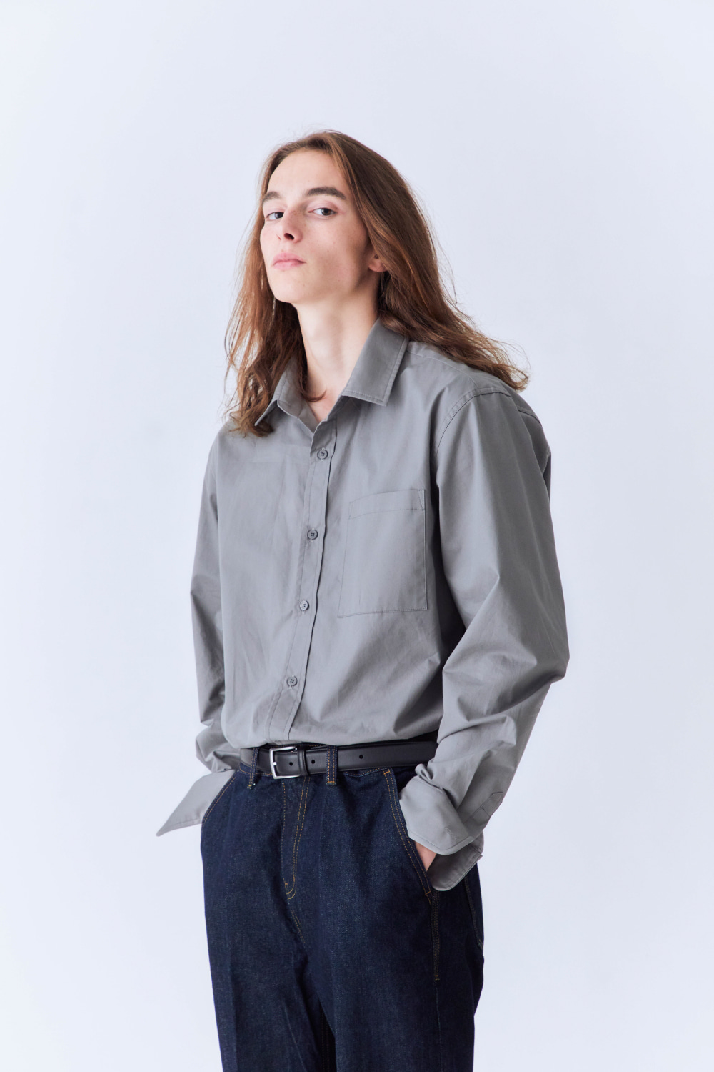 OURSCOPE아워스코프 Colorful Basic Shirts (Gray)