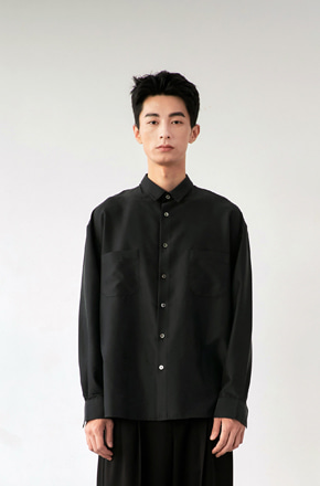 NOUN노운 easy tencel shirt (black)