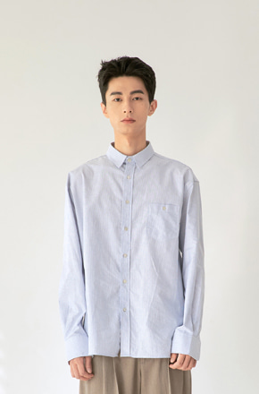 NOUN노운 standard oxford shirt (stripe)