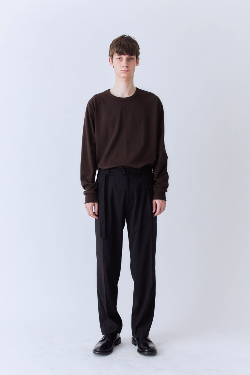 OURSCOPE아워스코프 Two Paneled Long Sleeve (Brown)
