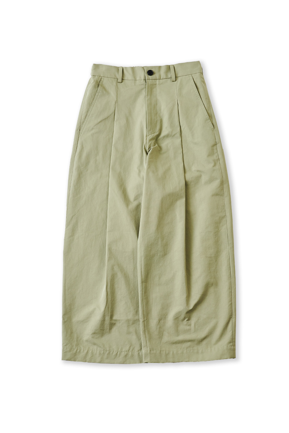 PERENN퍼렌 curved wide trousers_sage green