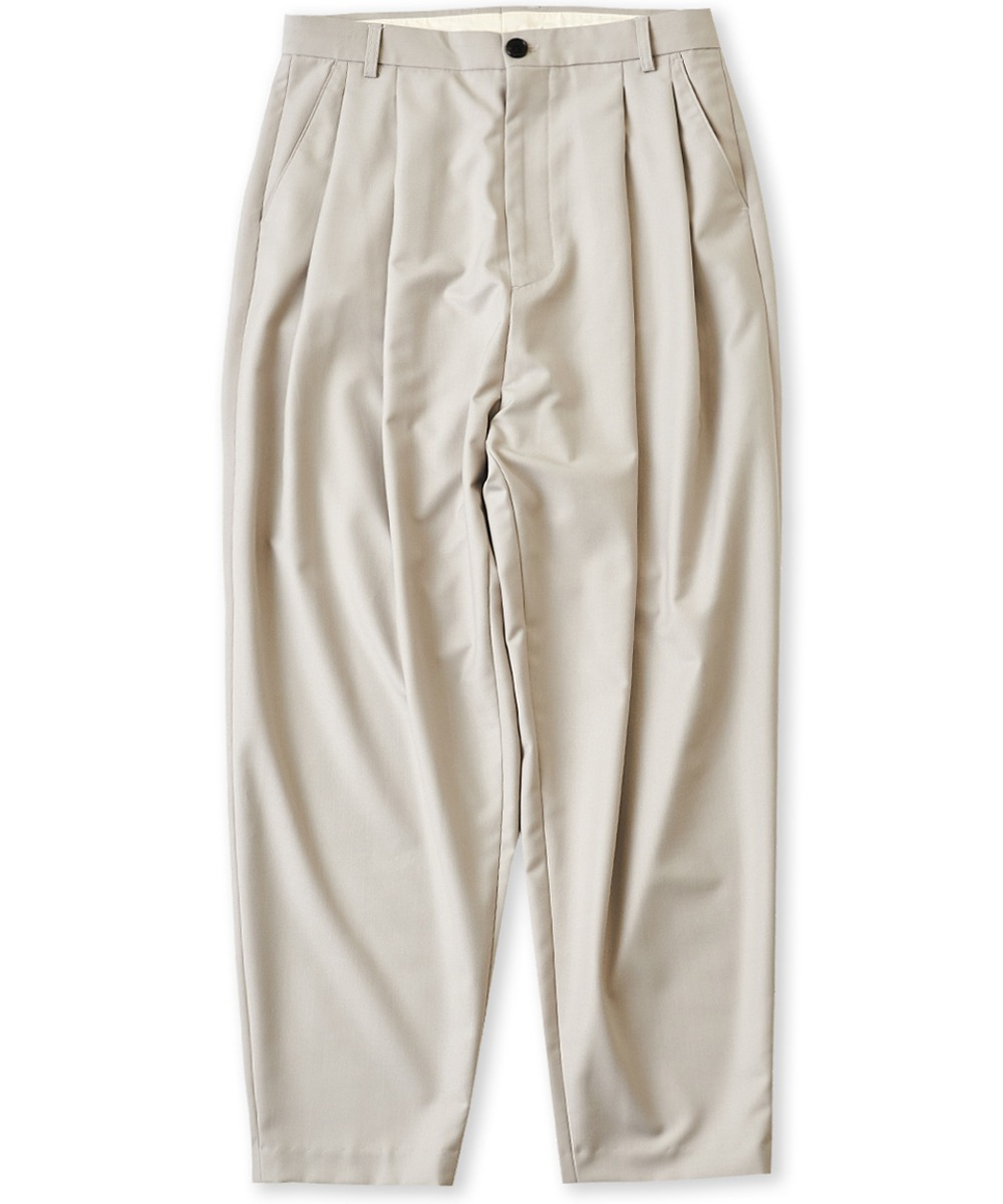 PERENN퍼렌 [LLUD X PERENN] 2 Pleats Relaxed Trousers_Dove