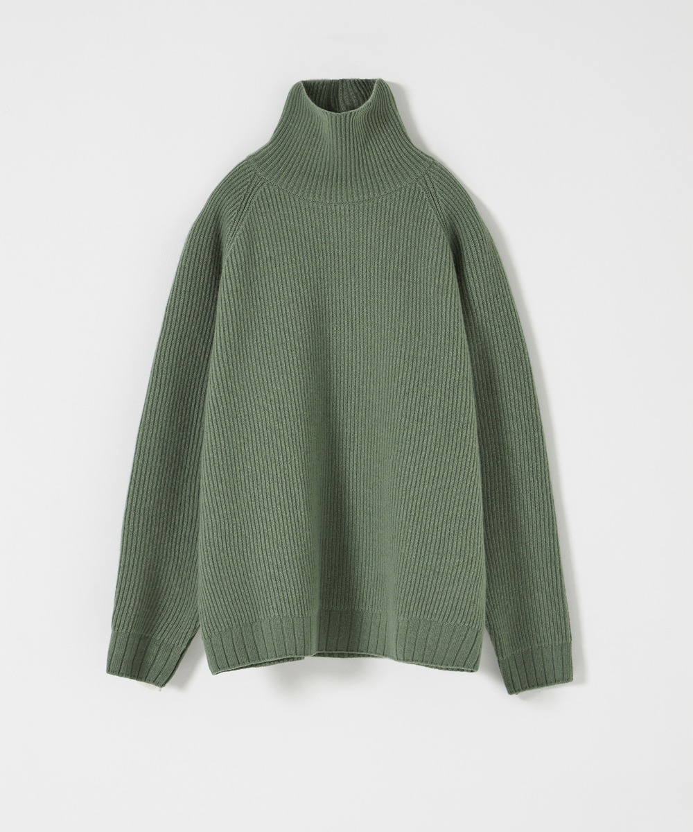 YOUTH유스랩 Oversized Turtle Neck Sweater Pale Green