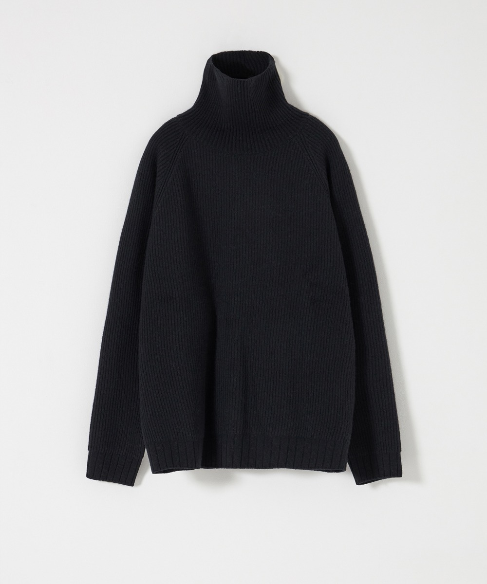 YOUTH유스랩 Oversized Turtle Neck Sweater Black