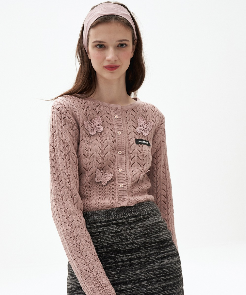 ODD ONE OUT오드 원 아웃 Butterfly patch knit_PK
