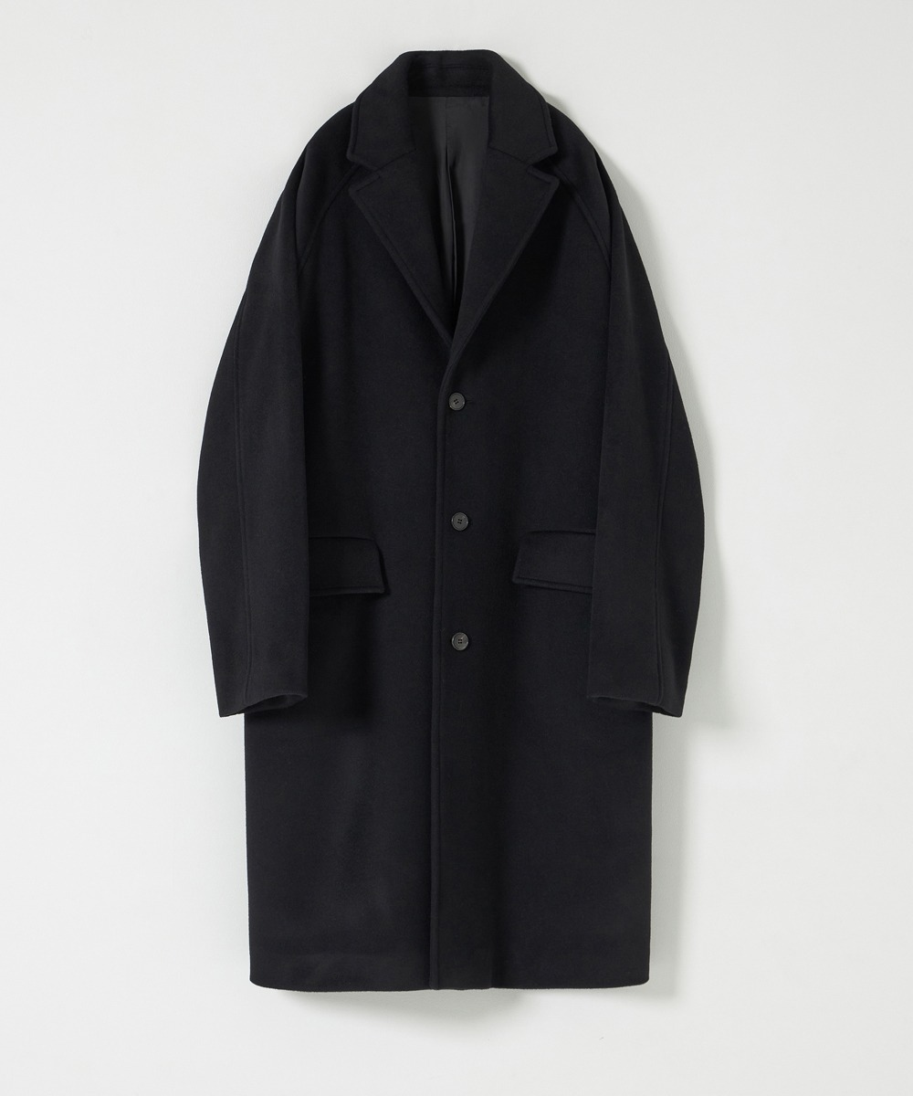 YOUTH유스랩 Chesterfield Coat Black