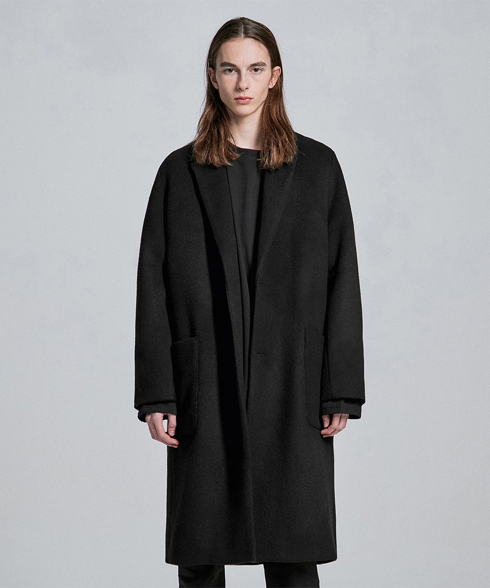 디프리크D.PRIQUE Cashmere Wool Coat - Black