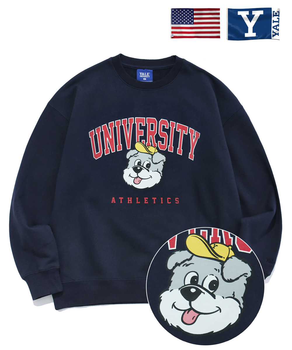 YALE예일 HANDSOME DANNY CREWNECK NAVY