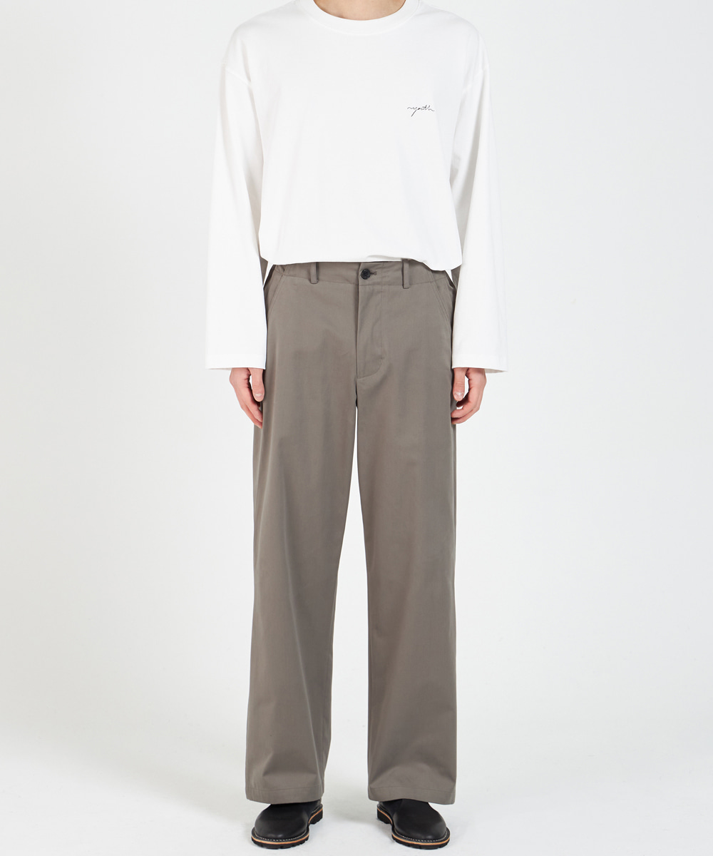 YOUTH유스랩 21SS Wide Chino Pants Olive Grey
