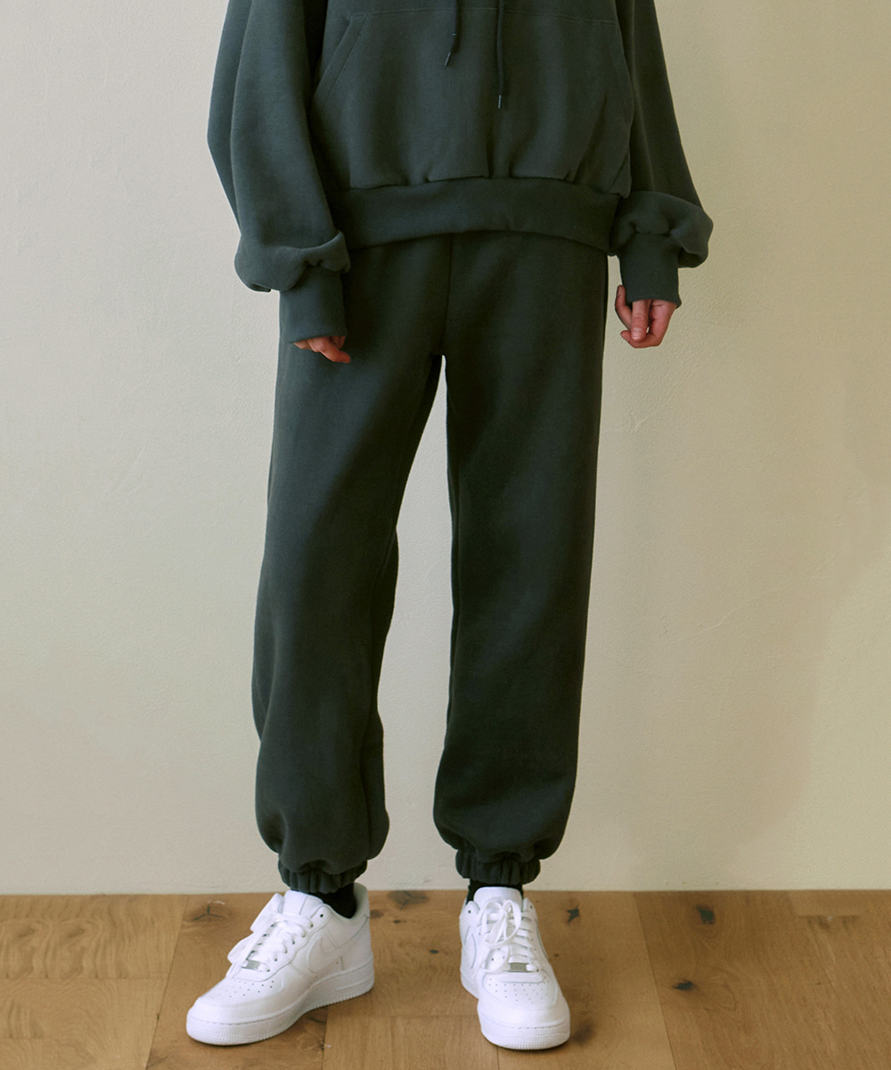 YAN13얀13 GIRLISH SWEAT PANTS_CHARCOAL