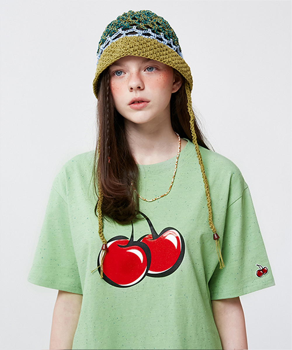 KIRSH키르시 BIG CHERRY JELLY T-SHIRT KS [LIME]