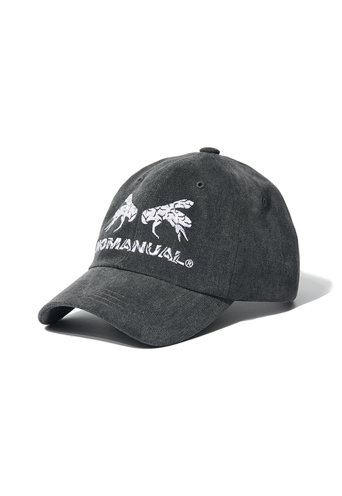 NOMANUAL노메뉴얼 WORKER BEE BALL CAP - CHARCOAL
