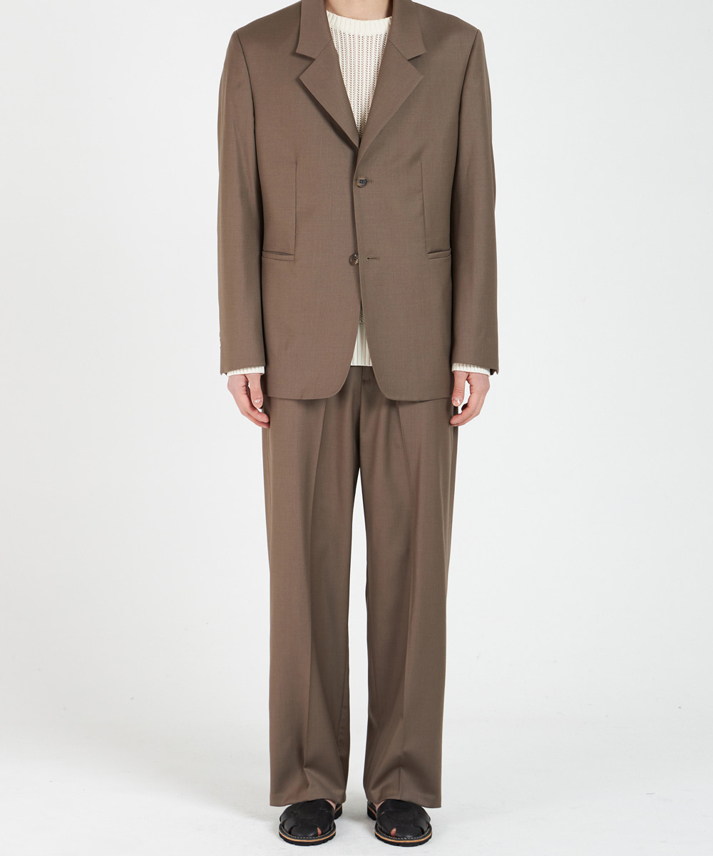 YOUTH유스랩 Wide Trousers Brown