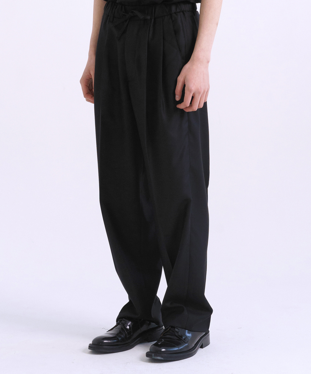 NOUN노운 wide tapered wool pants_2월19일배송