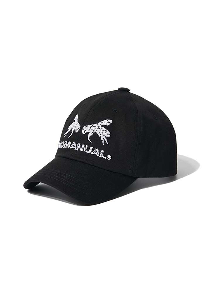 NOMANUAL노메뉴얼 WORKER BEE BALL CAP - BLACK