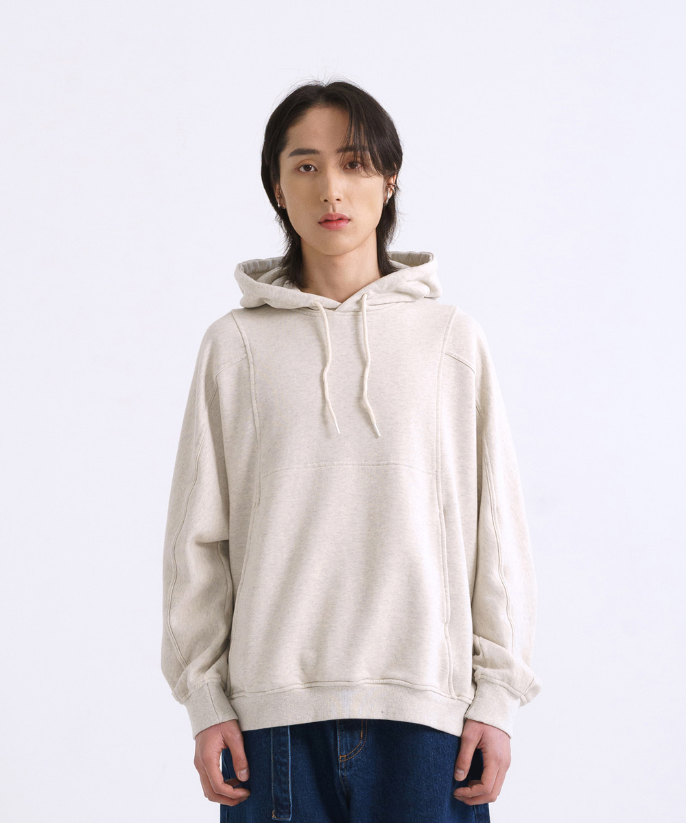 NOUN노운 batwing sweat hoody (oatmeal)