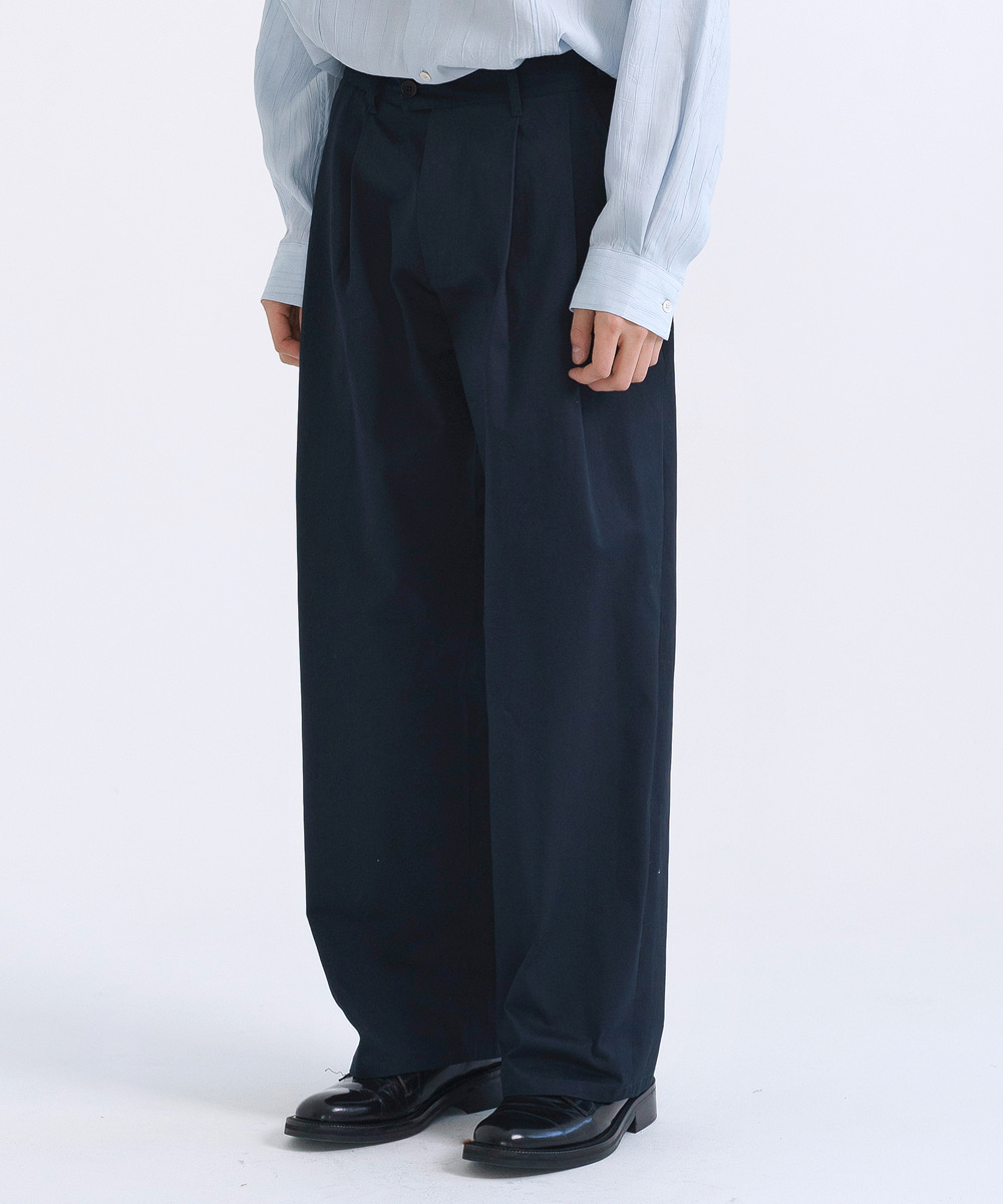 NOUN노운 wide chino pants (navy)