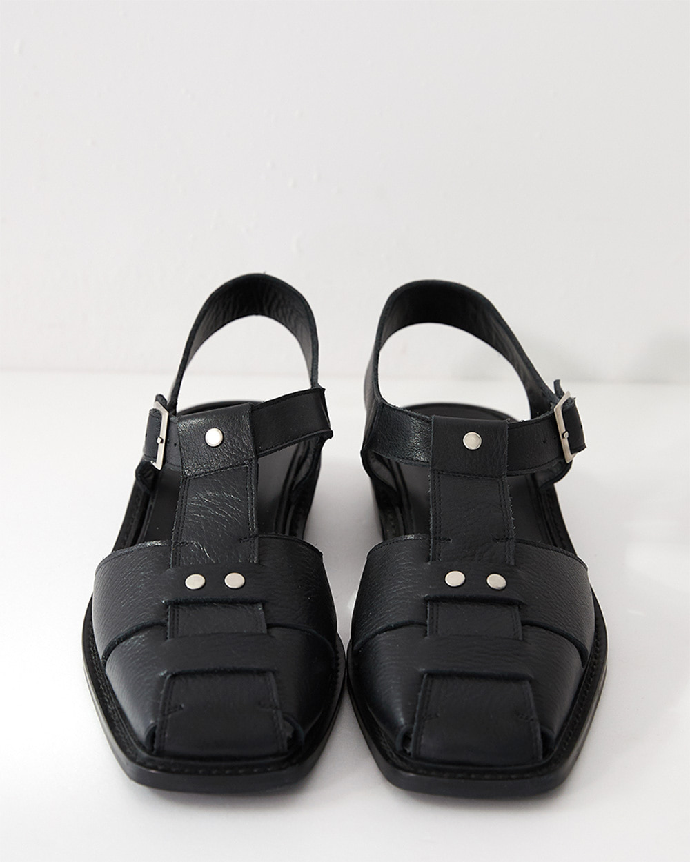 HALEINE알렌느 BLACK fisherman sandal(NH003)