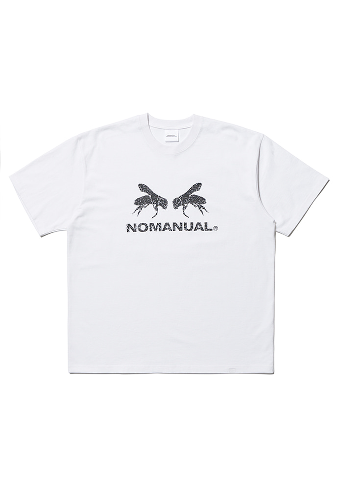 NOMANUAL노메뉴얼 WORKER BEE T-SHIRT - WHITE