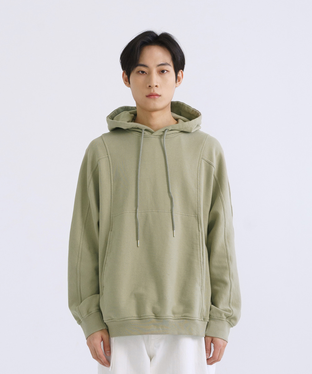 NOUN노운 batwing sweat hoody (olive)