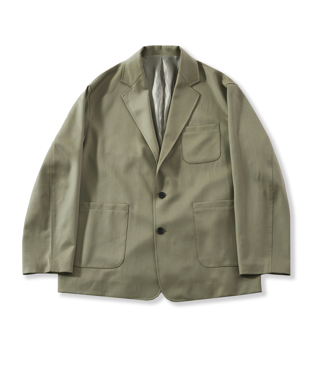 PERENN퍼렌 21'SS casual wool jacket(set-up)_olive beige
