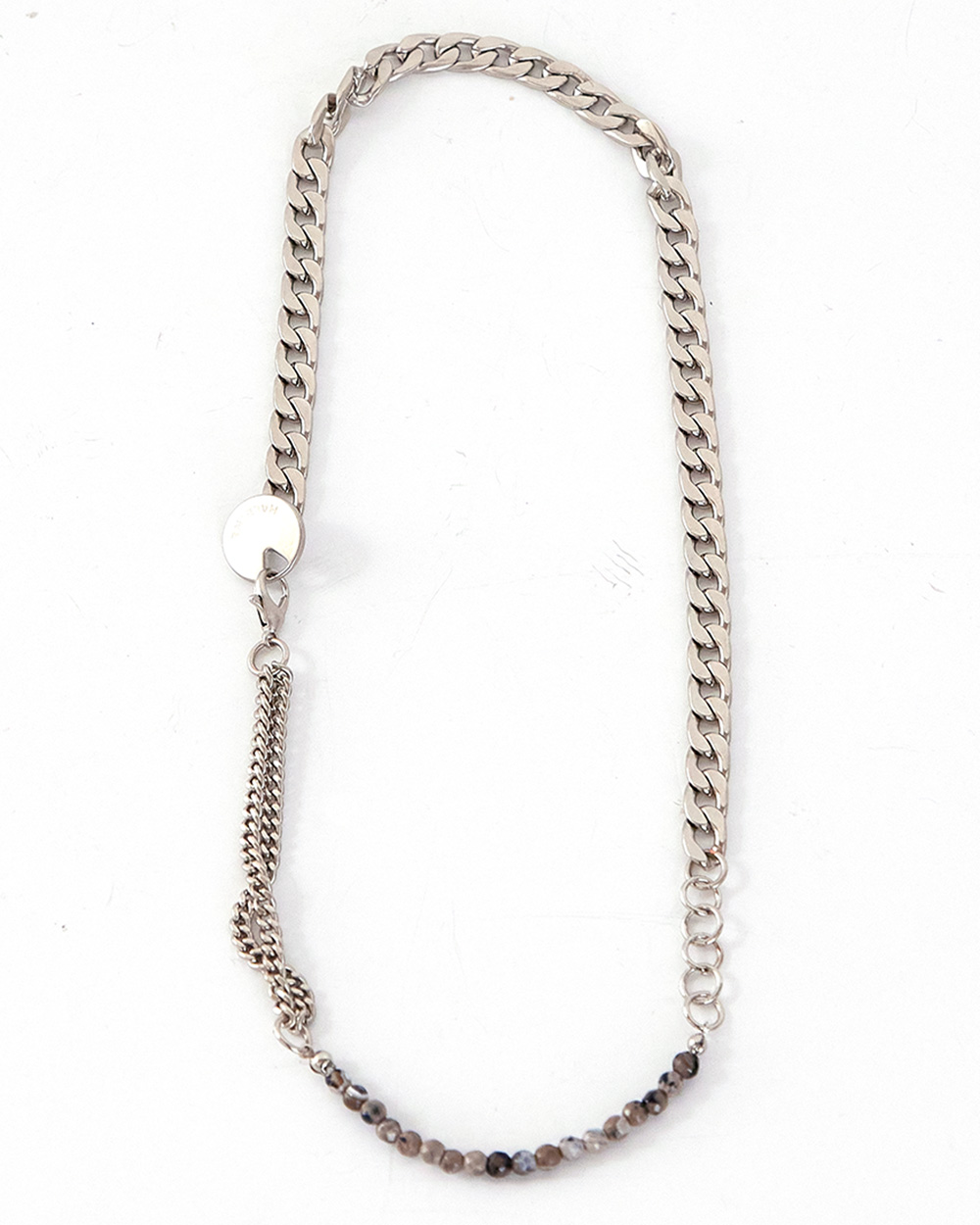 HALEINE알렌느 STONE metal mix necklace(NA009)