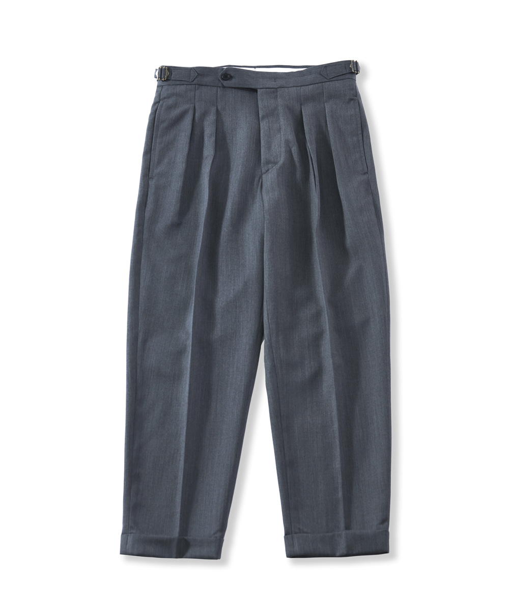 PERENN퍼렌 21'S/S 2pleats cropped trousers_gray