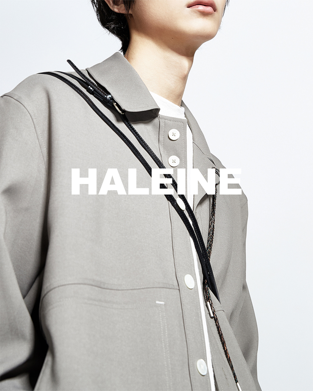 HALEINE알렌느 LIGHTKAIKI 3D detail triacetate shirts jacket(NJ022)