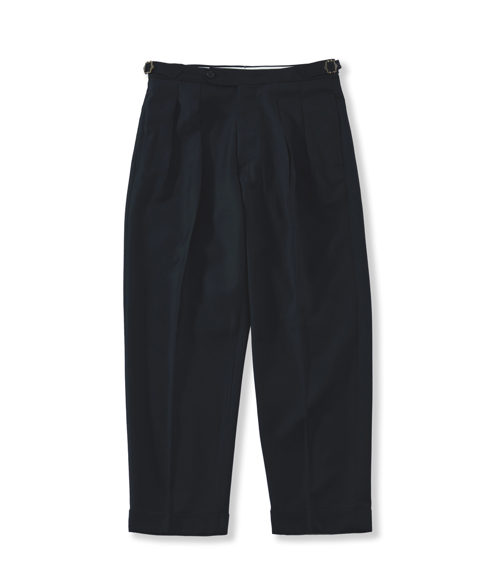 PERENN퍼렌 21'S/S 2pleats cropped trousers_black