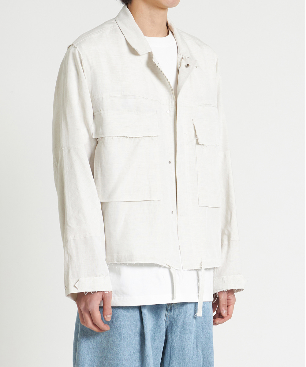 YOUTH유스랩 Cut-off Cropped Jacket Ivory